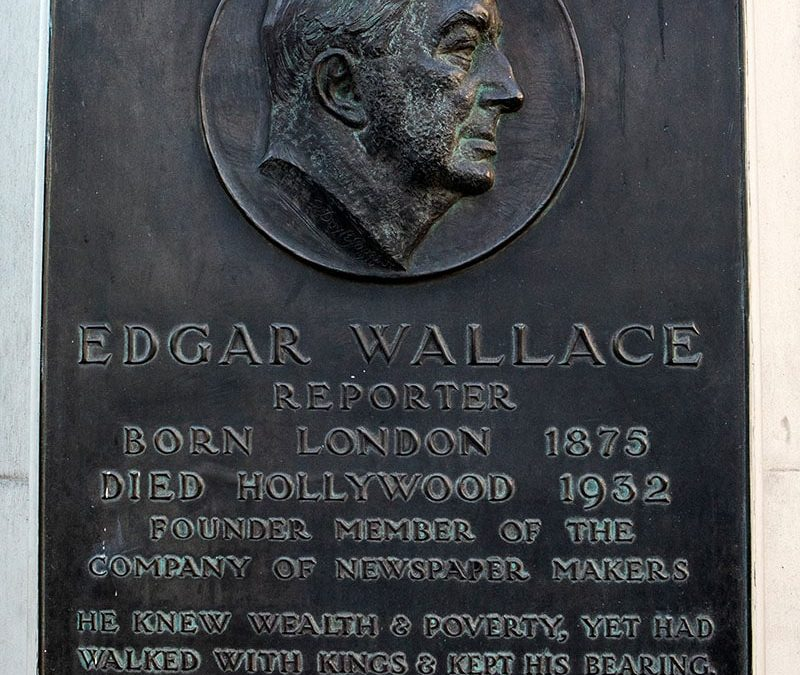 The creator of modern thriller, Edgar Wallace, died 87 years ago